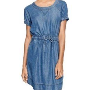J CREW light washed denim chambray dress